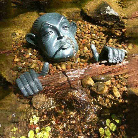Man in Barrel Spitter by Aquascape-Decorative-Aquascape-Kinetic Water Features
