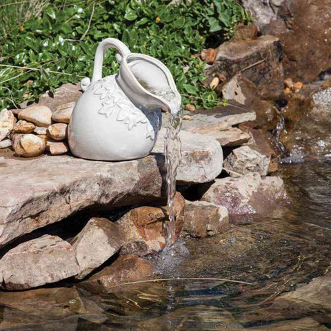 Oase White Pouring Pitcher-Pond Construction & Landscaping-Oase-Kinetic Water Features