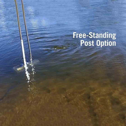 Scott Free Standing Post with Dock Post Mount-Water Mover-Scott Aerator-Kinetic Water Features