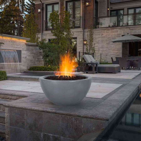 Top Fires Round Concrete Luna Fire Bowl by The Outdoor Plus-Top Fires-Kinetic Water Features