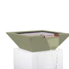 Image of Top Fires Square Concrete Maya Water Bowl by The Outdoor Plus-Top Fires-24 Inch-Ash-Kinetic Water Features
