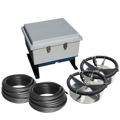 US Solar Mounts Grid-Tied AC Lake Aerators - AC-LA2-US Solar Mounts-Ground Mount-Kinetic Water Features