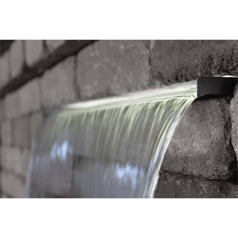 "Vianti Falls Stainless Spillway with 2"" Lip - 71.5"" Wide-Easy Pro-Kinetic Water Features"