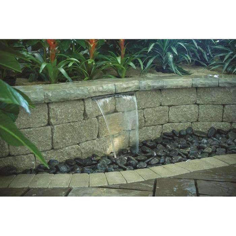 "Waterfall Kit with 16"" Stainless Steel Spillway by Aquascape-waterfall kit-Aquascape-Kinetic Water Features"