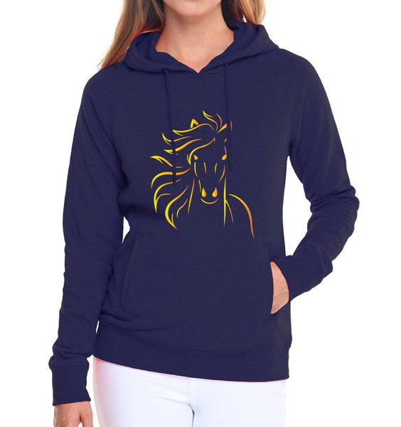 sweat shirt femme cheval