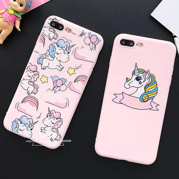 coque souple iPhone 7 Licorne