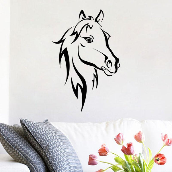 Sticker cheval fier