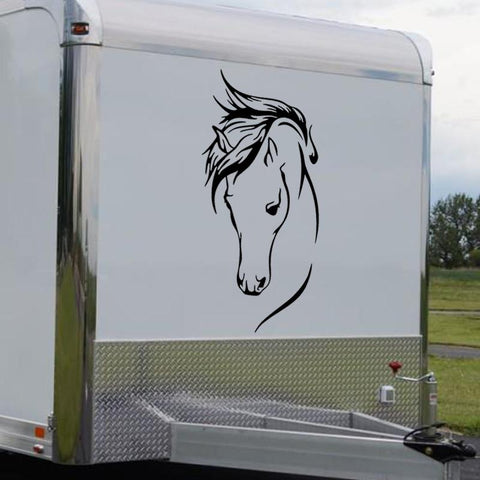 sticker cheval van camion