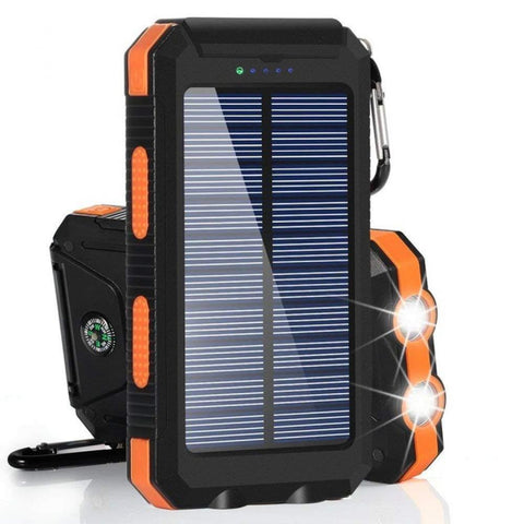NovaX™ 30000mAh Solar Power USB Waterproof Powerbank