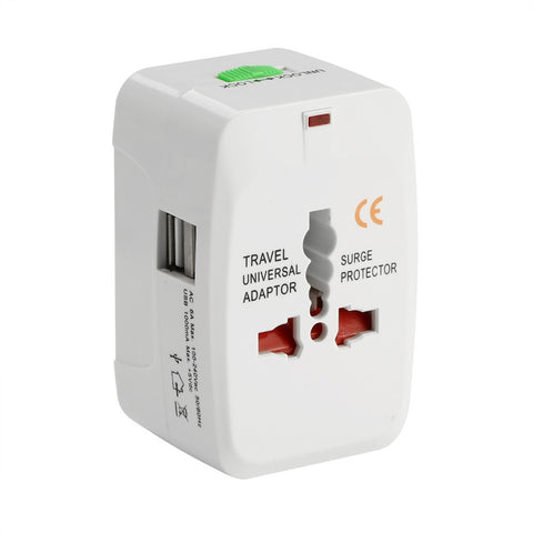 All In One Universal Plug Adapter - 2 USB Ports Optional