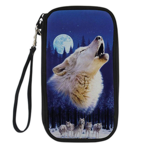 Wild Wolf Passport Wallet For Nature Lovers