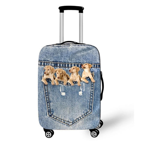 Puppies - PhotoReal Fur Baby Luggage Cover