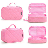 Women's Premium Padded Multi-Layer Travel Cosmetic Bag For Makeup