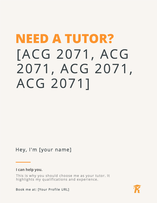 Billboard Flyers - Need A Tutor?