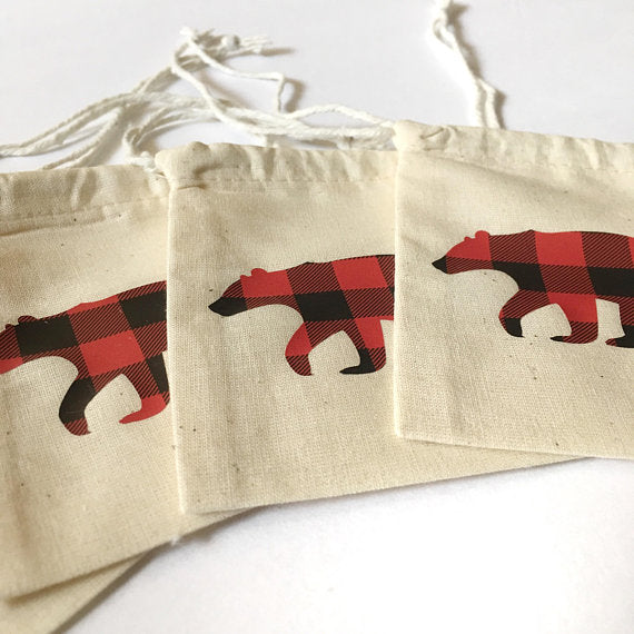 buffalo plaid party favors