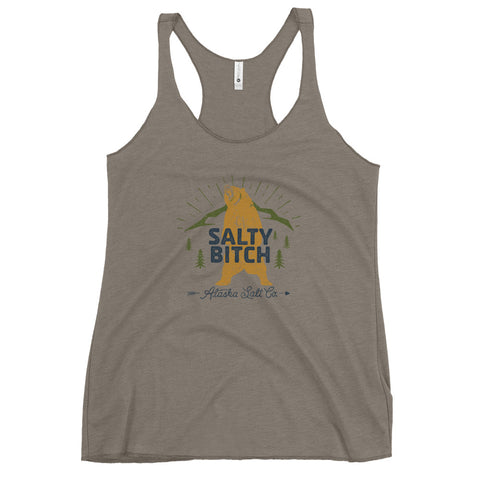 Salty Bitch Bear Racerback Tank