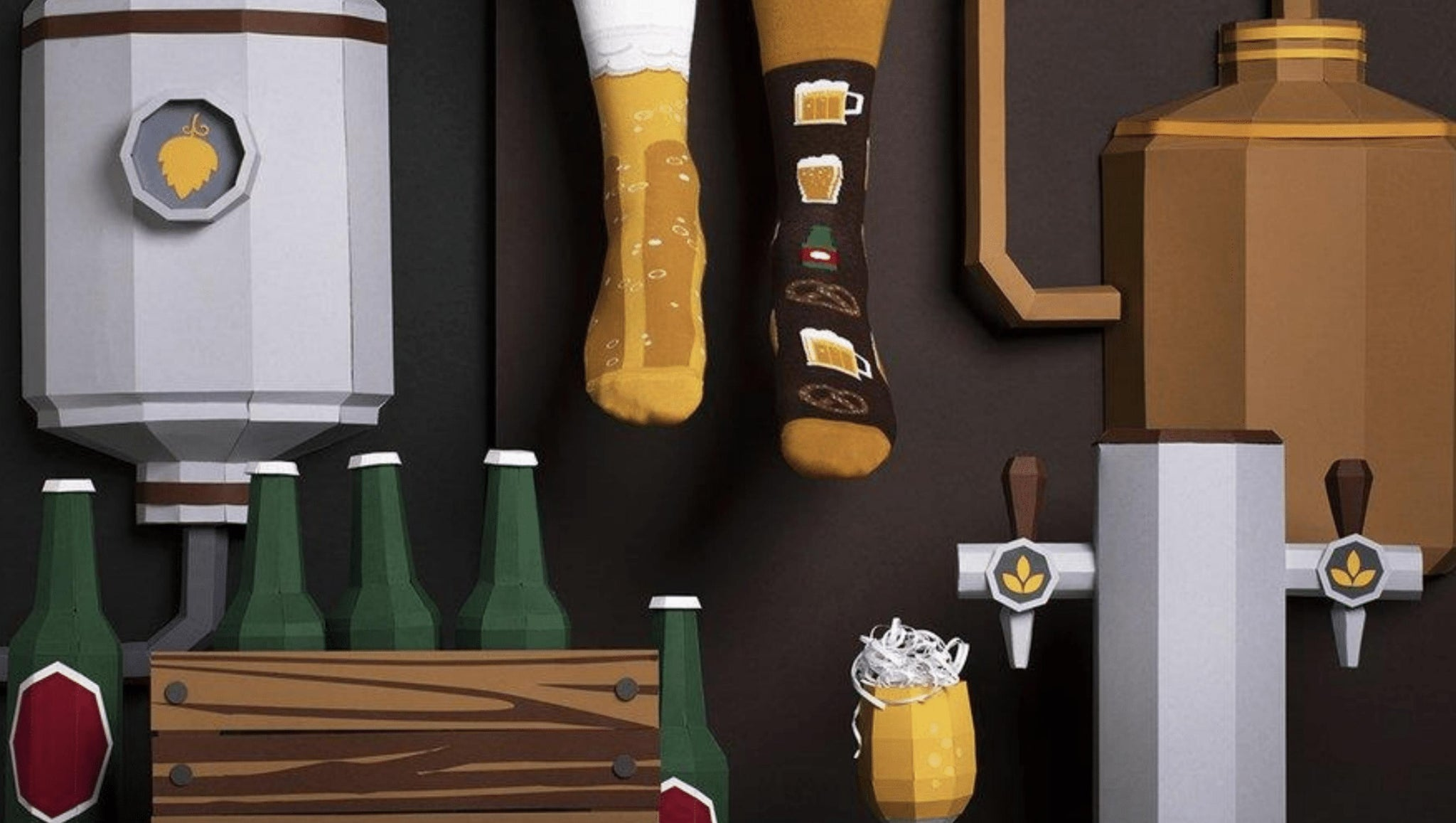 Bier Socken many mornings many mornings