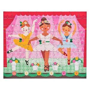 Doppelseitiges Ballerina-Puzzle Petit Collage Petit Collage