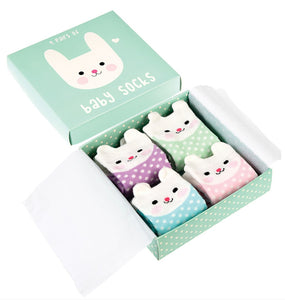 Geschenkbox Babysocken Hase Rex London