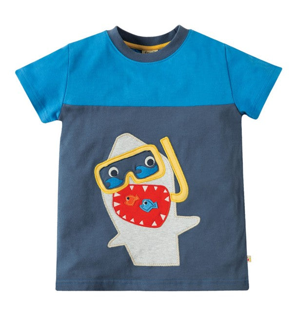 Hai shirt mit Applikation Frugi