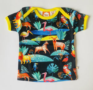 Tropical T-shirt acuarell alloverprint Curious stories