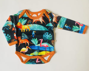 Tropical acuarell alloverprint Body Curious stories