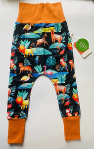 Tropical jersey Hose acuarell alloverprint Curious stories