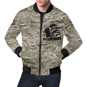 f025fb6b Men's Battle Line Warrior OCP All Over Print Bomber Jacket