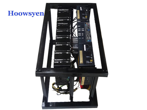 Mining Case Frame Stackable Computer Fame 8 Graphics Card GPU USB PCI-E Cable Computer Case BTC LTC Coin Server Chassis