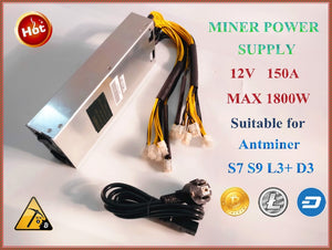 BTC LTC DASH miner power supply 176-264V 12V 150A MAX OUTPUT 1800W