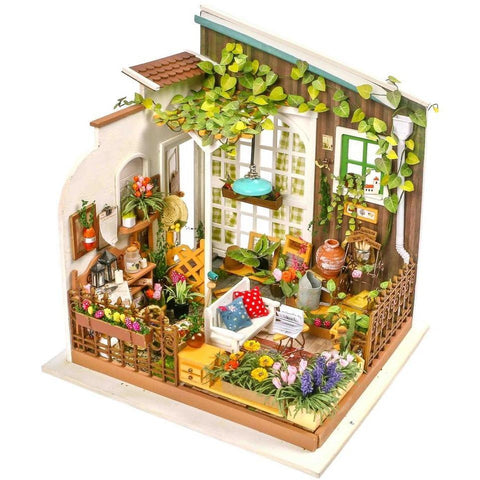 Diy dollhouse kit adas studio with led light wooden dreamland diy dollhouse kit millers garden solutioingenieria Choice Image
