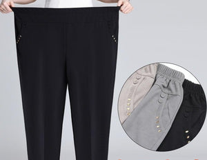 Womens Plus Size Summer Thin Loose Trousers / Long Pants