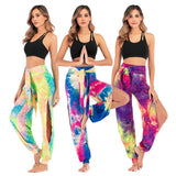 Women's Tie-dye Open Leg Pants 3XL