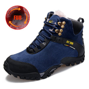 Unisex Waterproof Military Genuine Leather Climbing Boots