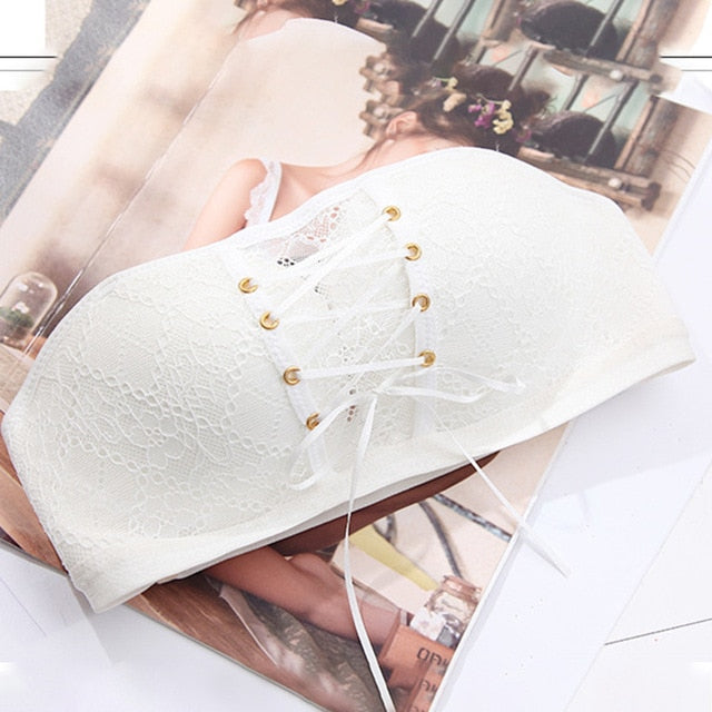 Strapless Push Up Summer Lace Breathable Invisible Bra