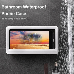 Wall Mounted Phone Case Waterproof Holder Toilet Kitchen Convenient Safe Phone Holder Bathroom Accessories Home Storage