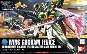 Gundam Wing Fenice with Meteor Hopper, and 1/144 Clear Sparkle Green Action Base