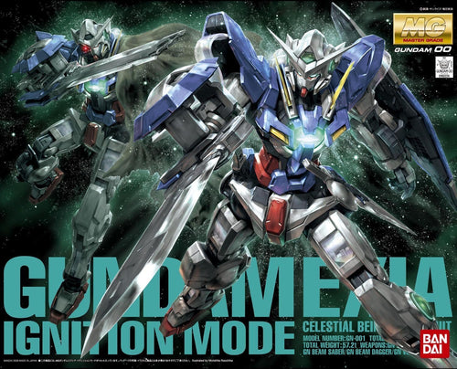 MG Exia Ignition Mode with Action Base 1/100 Scale Grey