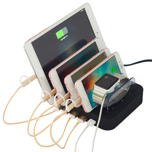 5 Multi Ports Universal Detachable USB Charging Station