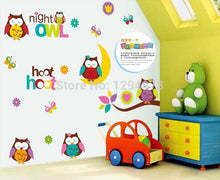 Owl Good Night Removable Vinyl  Nursery Kids Wall Stickers