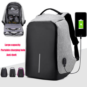 External USB Phone Charging Interface Notebook Computer Tablet Bobby Backpack Men Women's Anti Theft Design Laptop Bag for 15.6