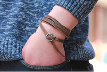 Leather charm bracelet / waist chain