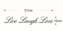 LIVE LAUGH LOVE Vinyl Wall Art Quote Stickers