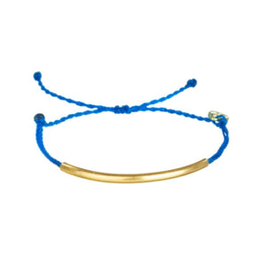 Adjustable Golden tube bar Bracelet