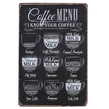 Vintage Metal Plaques 20x30cm Signs Home Decor Tin Plaque Bar Decoration Pub Club Poster Wall Stickers Coffee Plate