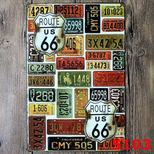 Vintage Metal Route 66 Tin Wall Signs Pub Bar Home or Store