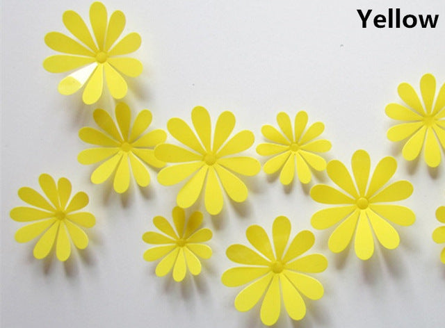 3D Flowers Wall Stickers
