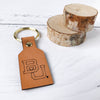BU Leather Keychain