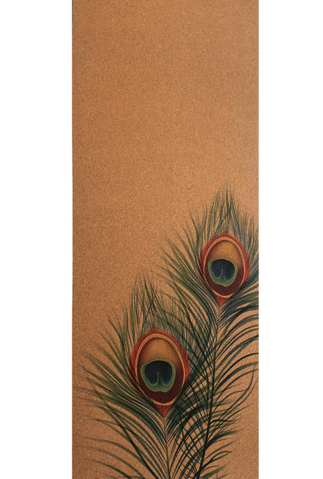 CorkPro™ Mat - Artists Collection - Peacock Feathers
