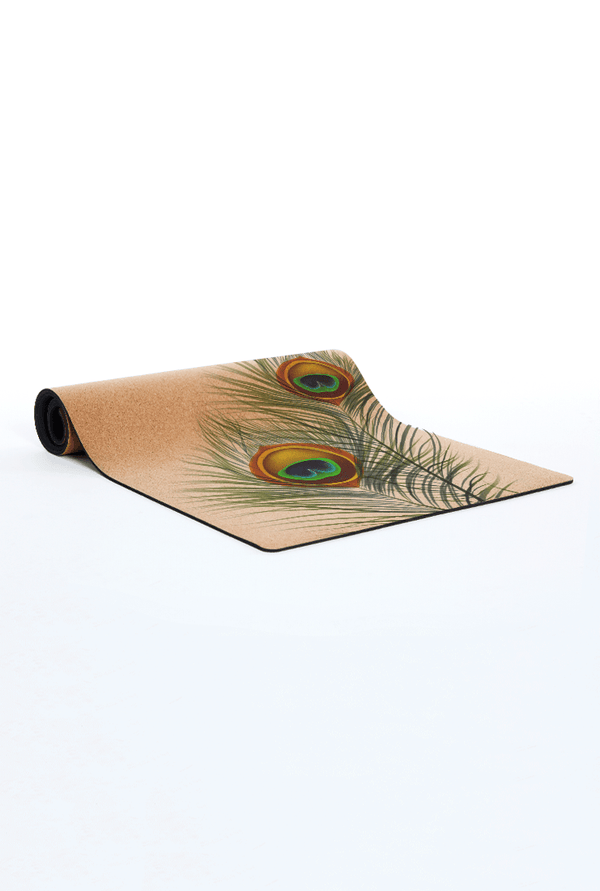 CORKPro Mat - Artists Collection - Peacock Feathers